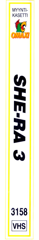 She-Ra VHS 3 selkämys
